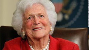 US ex-First Lady, Barbara Bush, dies at 92