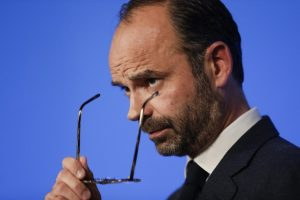 French PM Edouard Philippe - AIR FRANCE strike
