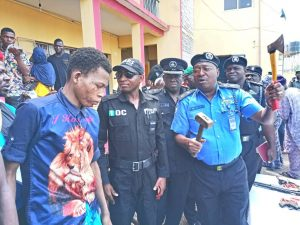 OGUN POLICE COMMISSIONER AHMED ILIYASU - Parading notorious CULTISTS