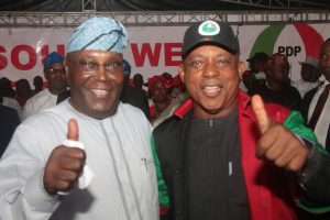 PDP SOUTH WEST RALLY - ATIKU - SECONDUS