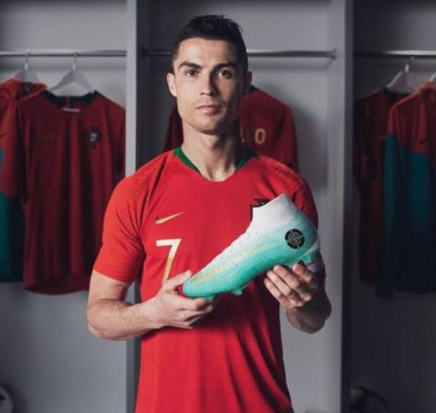 10bb5a61612 Ronaldo to wear new boots against Uruguay