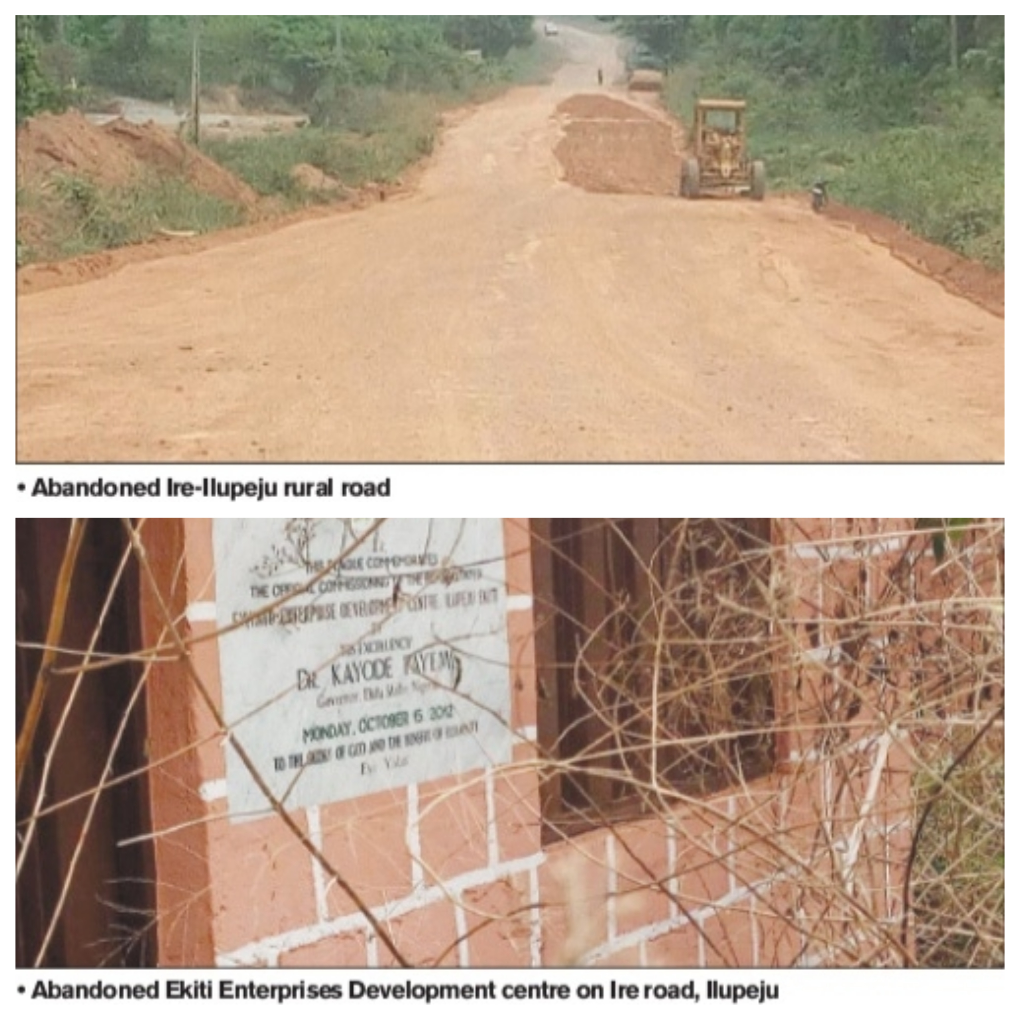 Ekiti abandoned projects begging for attention