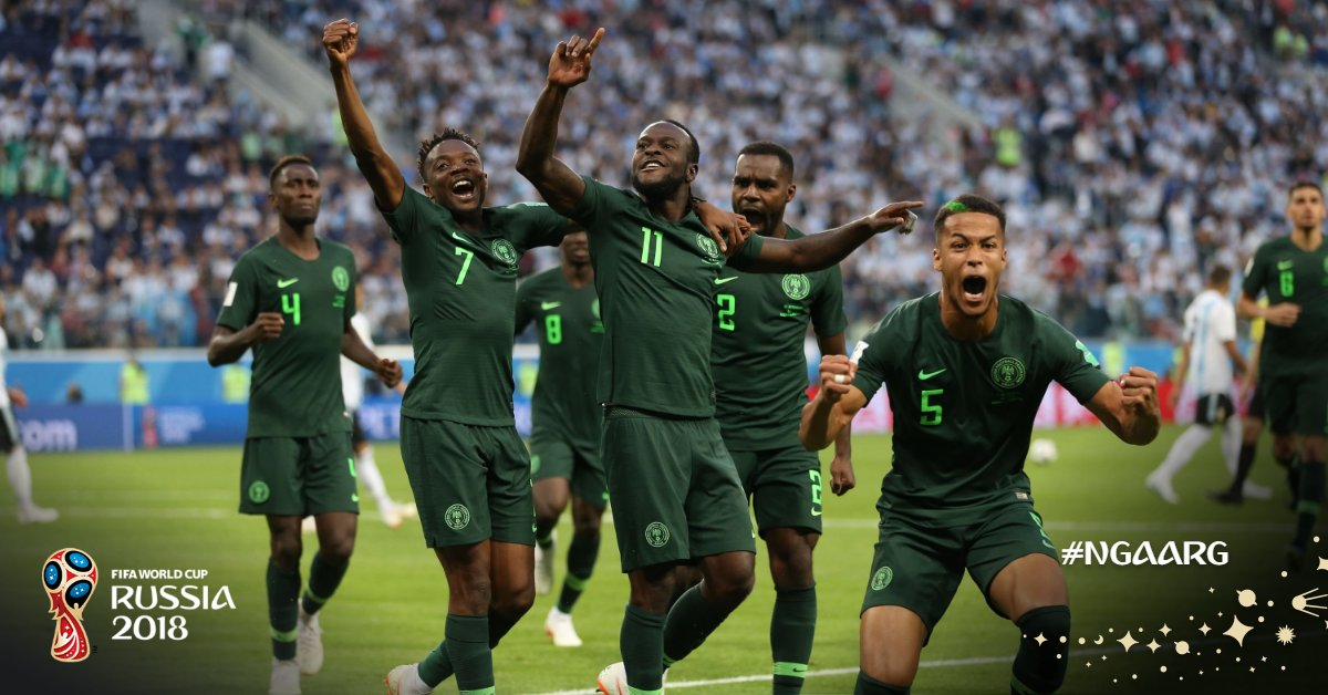 c690eb050 Russia 2018  The Super Eagles  performance