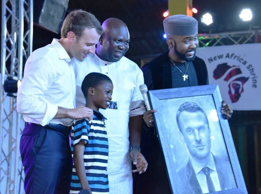 Get involved in politics, Macron urges Nigerian youths