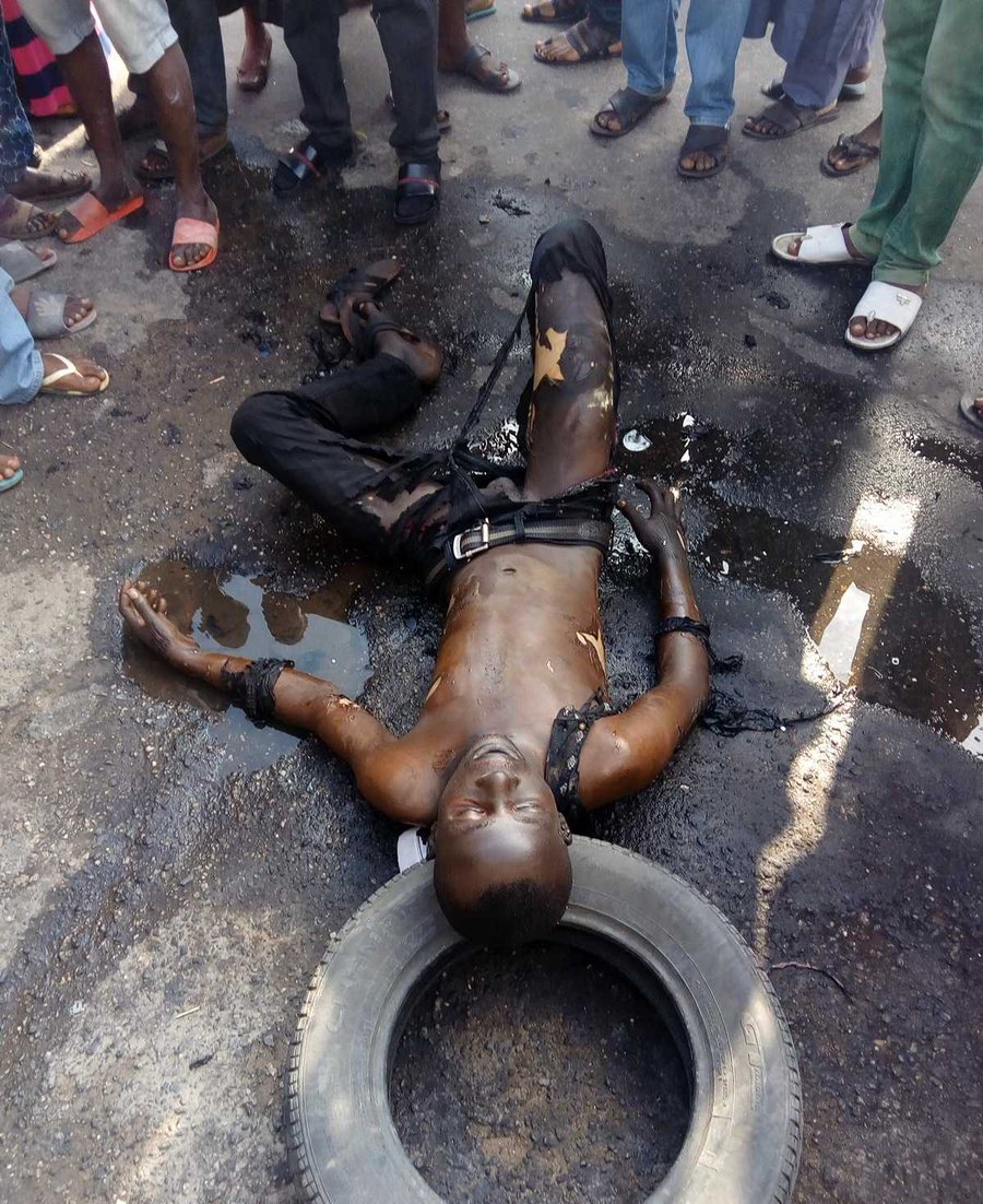 Man sets self ablaze, says hardship in Nigeria too much