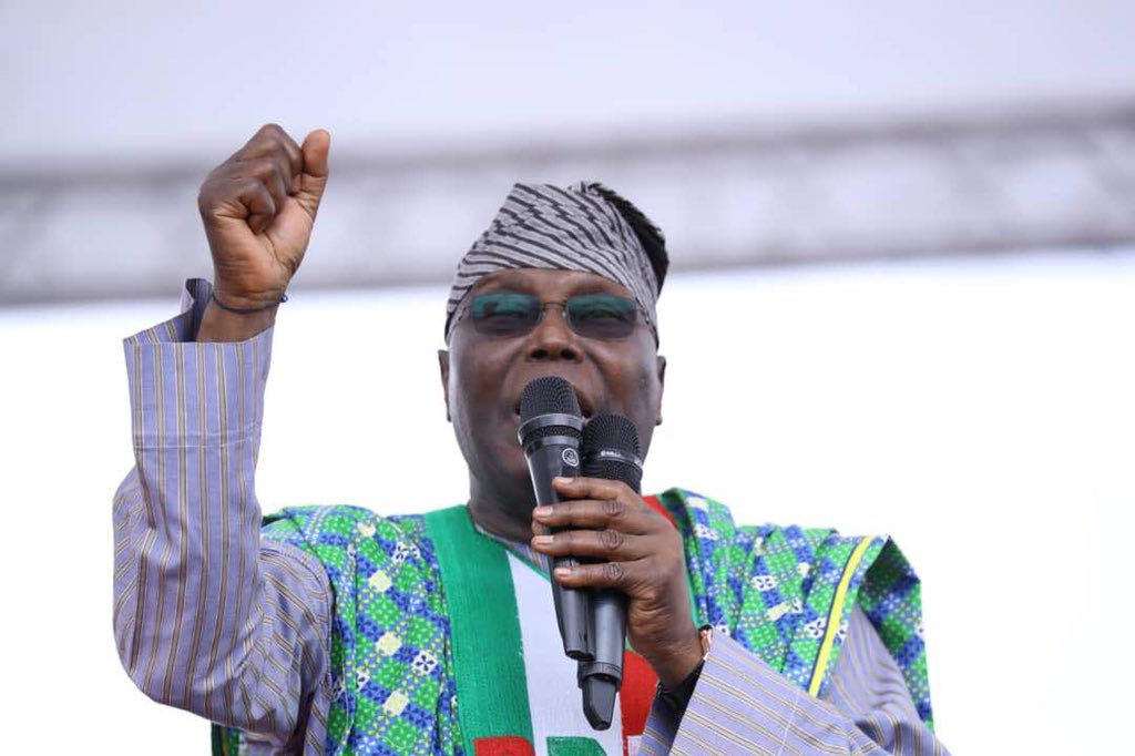 Image result for Atiku promises to take Nigeria to higher level