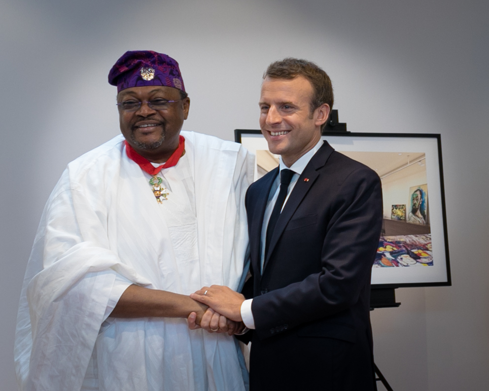 """Mike Adenuga receives """"Commander of the Legion of Honour"""" from Macron"""