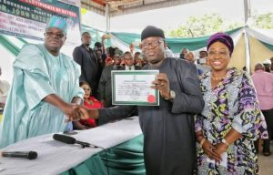 GOVERNOR ELECT FAYEMI CERTIFICATE OF RETURN
