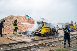 Train collides with passenger bus in Lagos