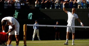 FEDERER OUT - ANDERSON ADVANCES - WIMBLEDON