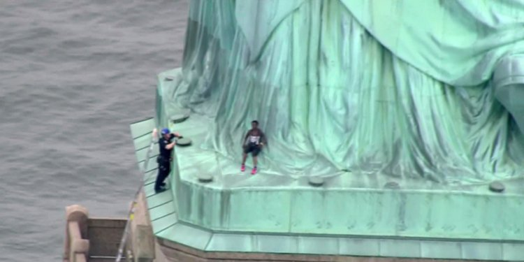 Meet Therese Patricia Okoumou, the woman who scaled the Statue of Liberty to protest Trump's immigration policies on July 4th