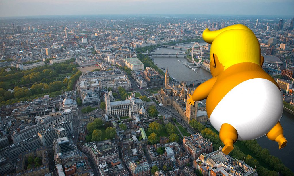 Giant 'Trump Baby' to fly over London during US president visit