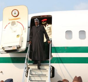 BUHARI ARRIVES FROM LONDON