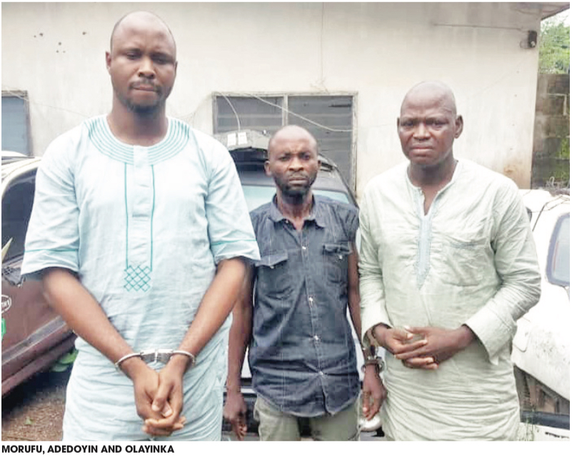 Image result for Imam Balogun Morufu and three others identified as Babatunde Richard, Adedoyin Idowu, Olayemi Olayinka are now telling the police how they succeeded in defrauding the Germany-based businesswoman simply identified as Angela.