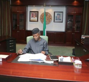 OSINBAJO SIGNS BILLS INTO LAW