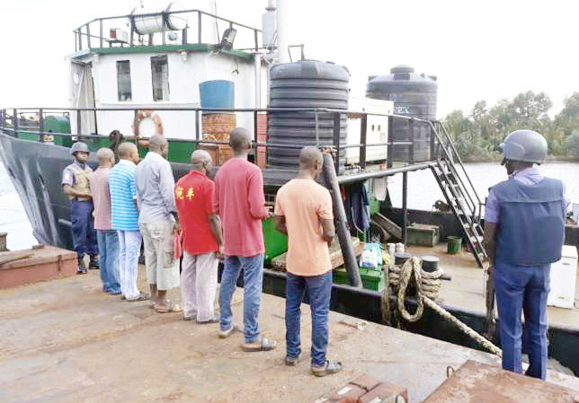 Navy nabs 8 oil smugglers, impounds 81 drums of petroleum products