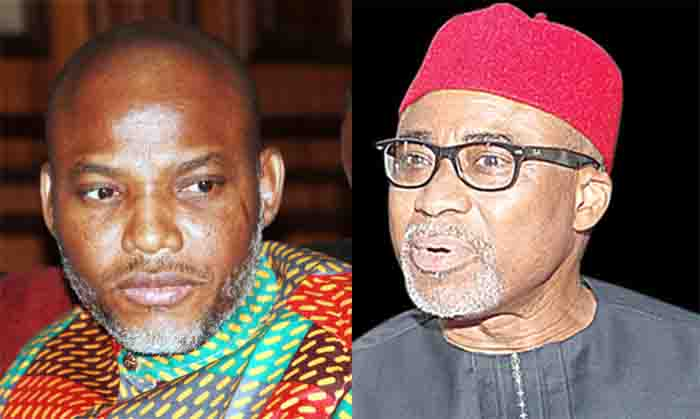 Court varies Kanu's bail, orders Abaribe, others to forfeit N100m