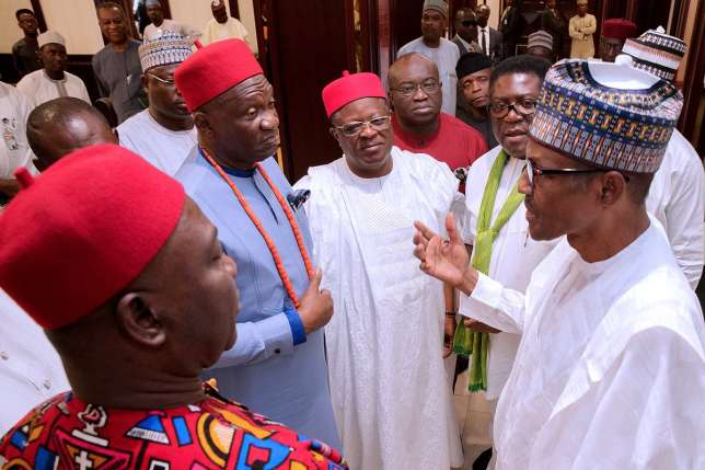 Image result for Ekweremadu, South East Governors Meet With President Buhari