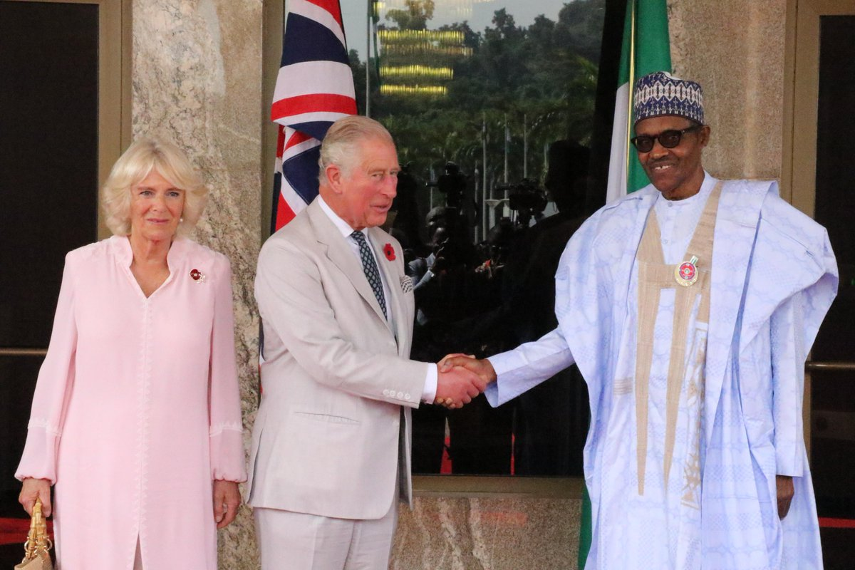Prince Charles and Duchess Camilla in Abuja Images and Video