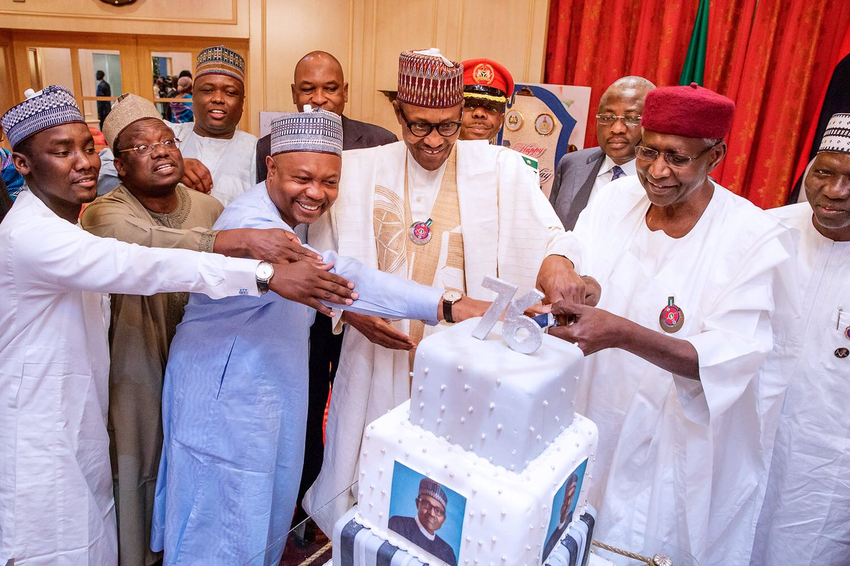 Image result for buhari at 76