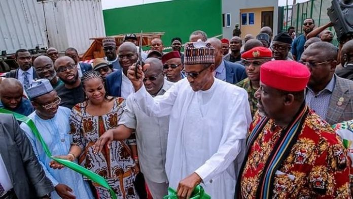 New dawn for SMEs as Buhari inaugurates Ariaria Market IPP