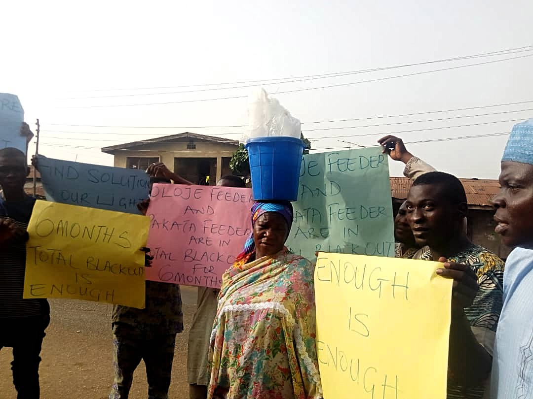 Kwara communities protest 6-month power blackout in Ilorin