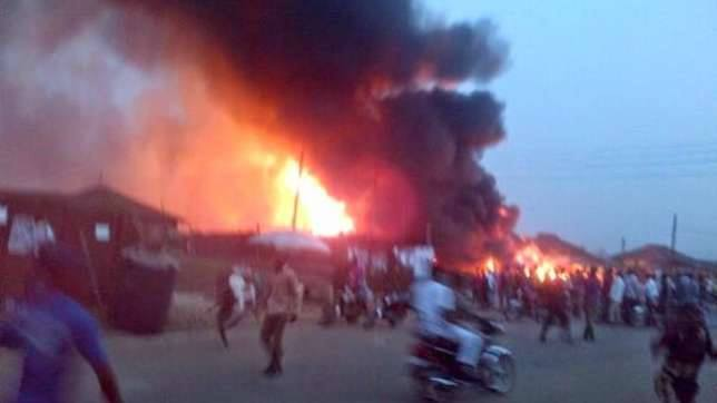 At least 50 people missing after pipeline explodes in Nigeria