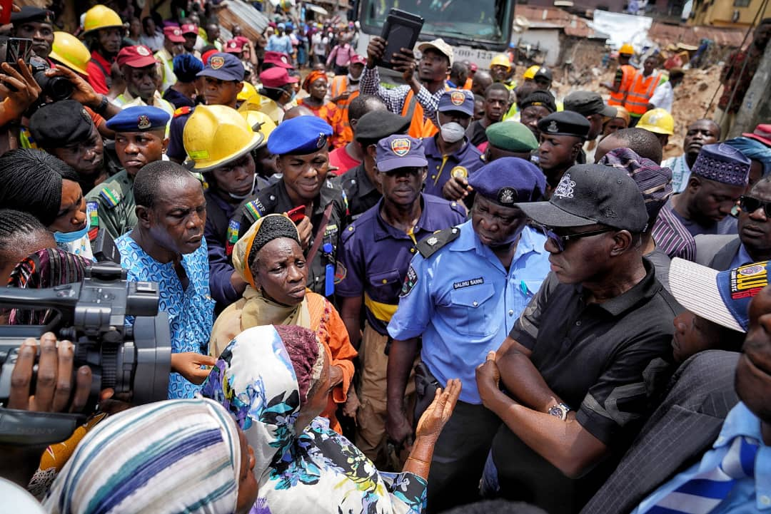 Building collapse: Lagos 'll henceforth experience urban renewal, Sanwo-Olu says