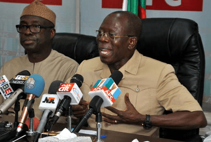 Oshiomole Presides over APC NWC Meeting, Emphasises On Party Unity