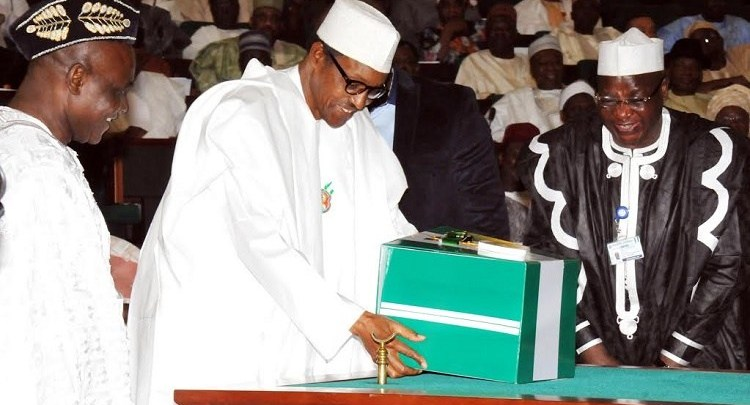 Image result for Buhari presents 2020 Budget today