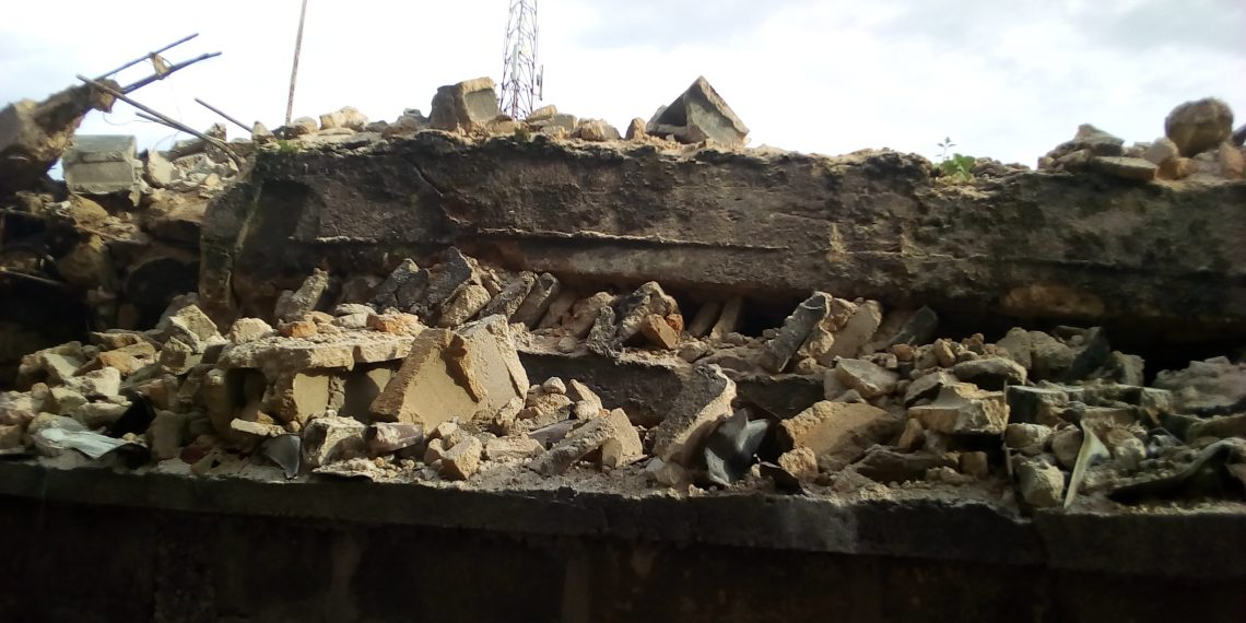 4 escapes death as two storey building collapses in Imo