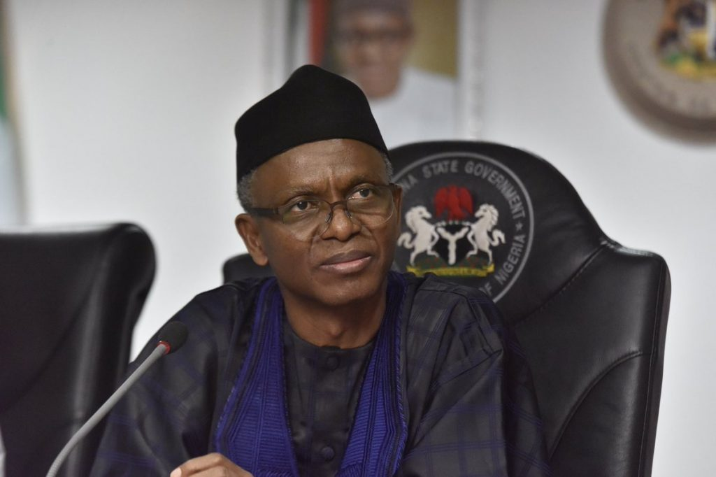Kaduna yet to reopen markets, places of worship, says El-rufai