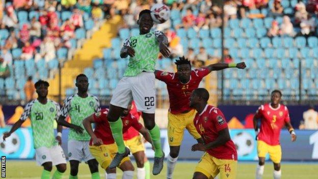 Eagles first to move to knock out stage, edge Guinea 1-0