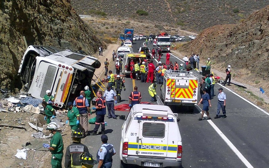 South Africa bus crash: 24 declared dead
