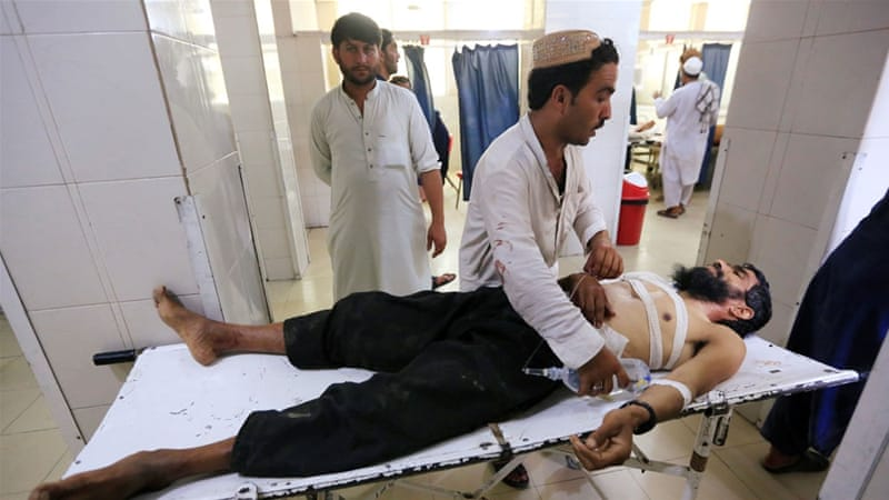 Six people died as suicide-bomb attack wedding party in eastern Afghanistan
