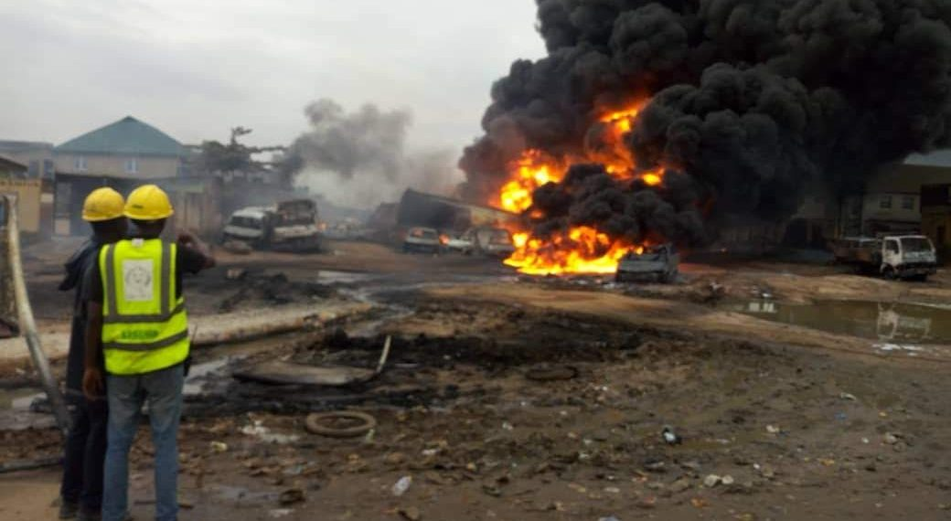 Major fire incident at Ijegun, Lagos, pipeline explosion reported