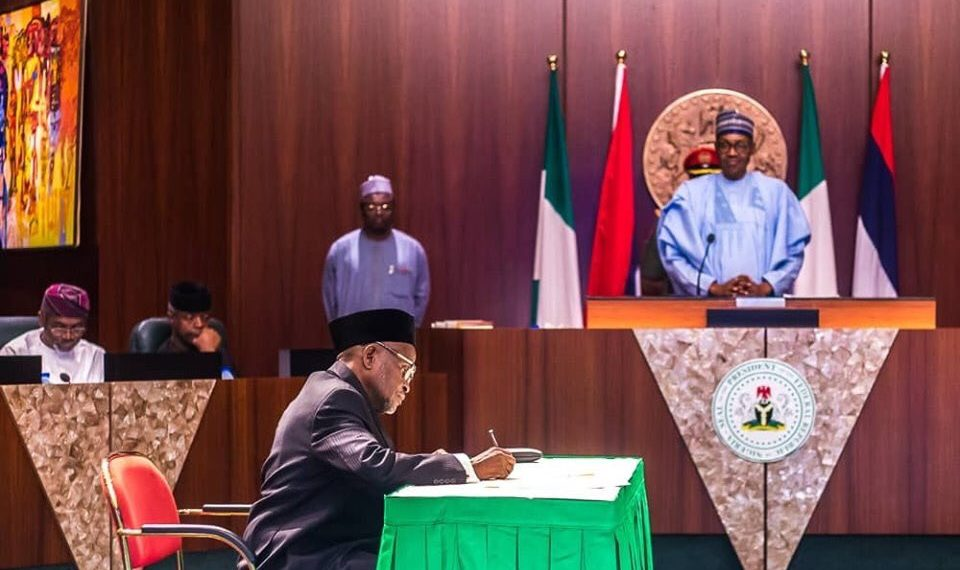 Buhari swears in Mohammed as Chief Justice