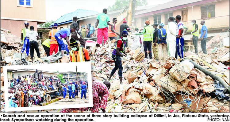 NEMA confirms 13 dead in Plateau building collapse  - Landlord, pregnant daughter among casualties