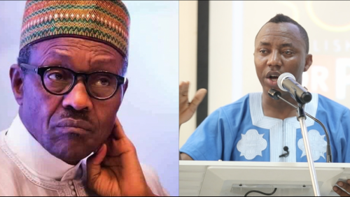 Image result for Sowore, Buhari