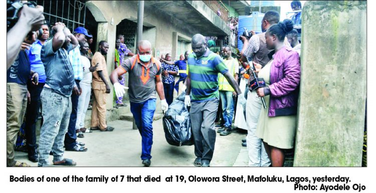 Family of 7, pregnant guest found dead in Lagos