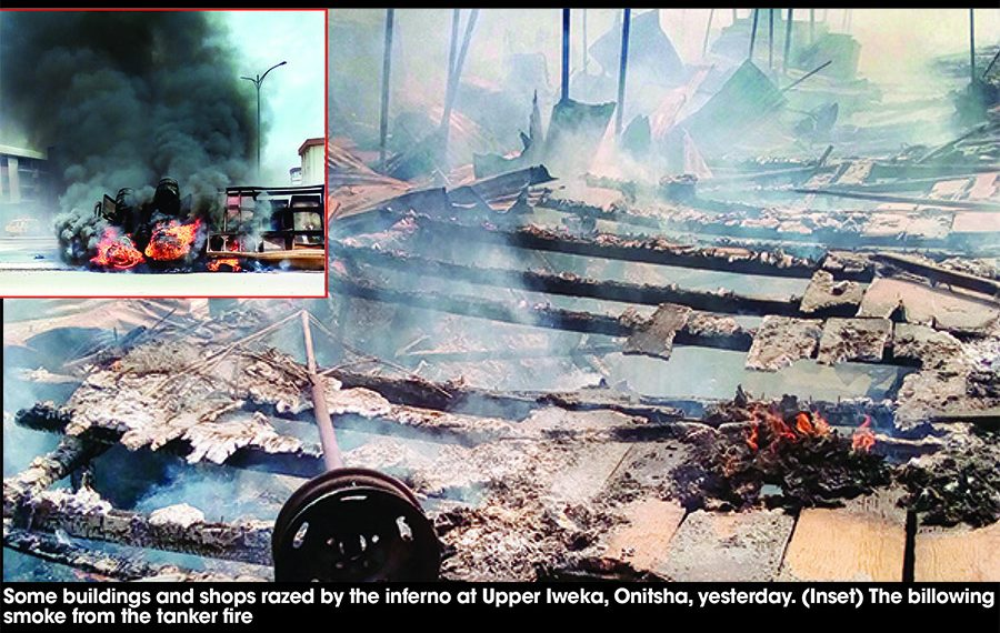Fire spreads sorrow in Onitsha, 3 killed, Market, 6 houses burnt