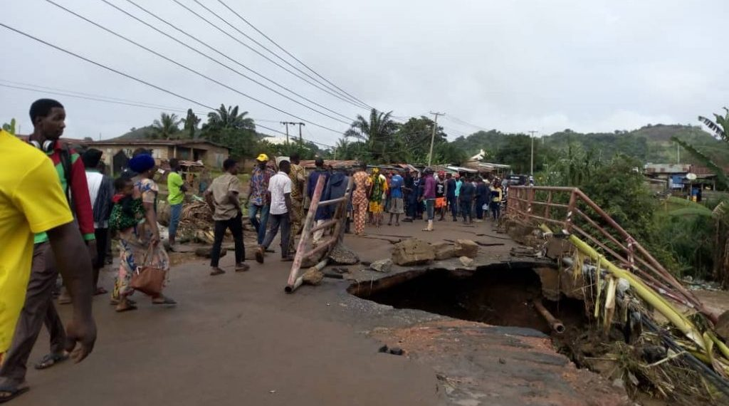 1dead as bridge collapses in Ekiti