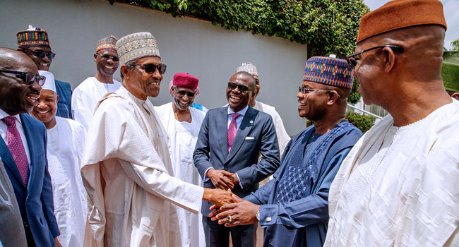 Buhari says to Bello on re-election