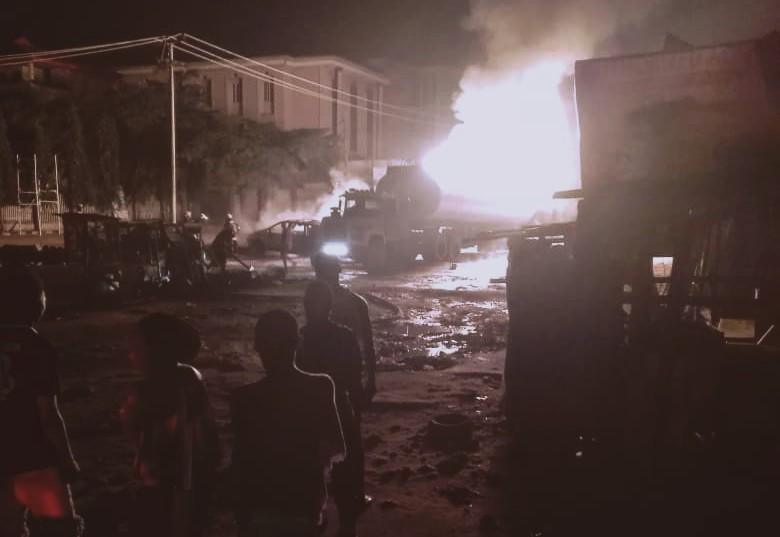 Petrol truck on fire at Alimosho