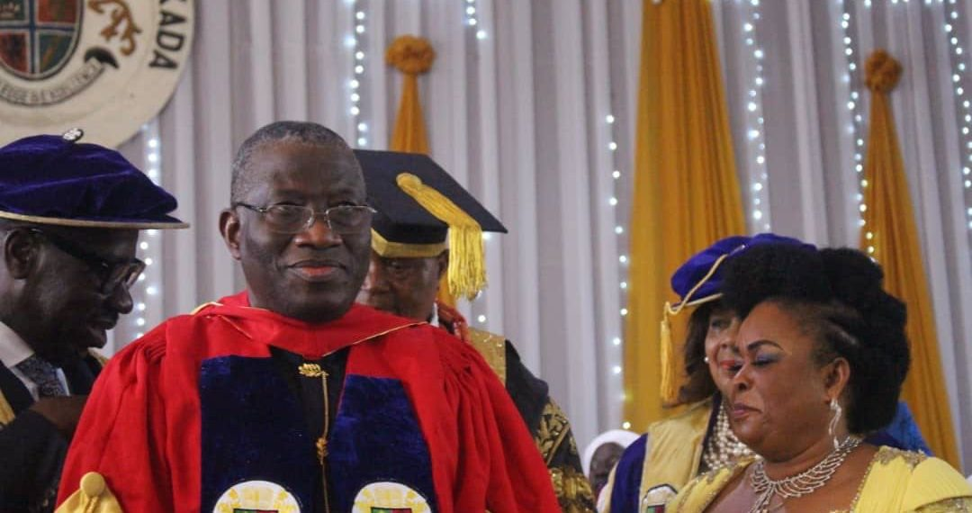 Image result for Ex-President Jonathan gets honorary doctorate degree