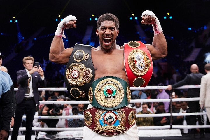 Joshua to present belts to Buhari - Sports Minister