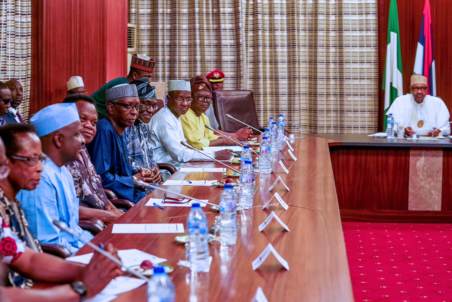 Image result for Buhari meets with ASUU leaders over IPPIS