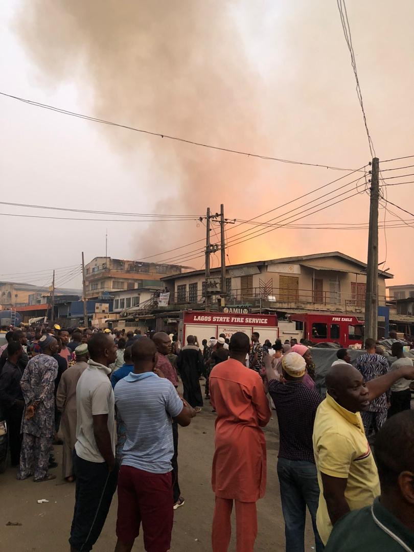 LASEMA confronts Mushin timber market fire in Lagos