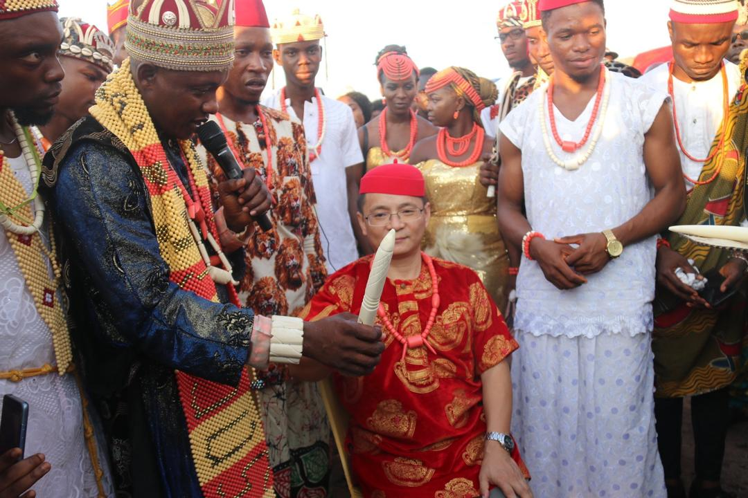 Igbo honour Chinese scholar with Chieftaincy title