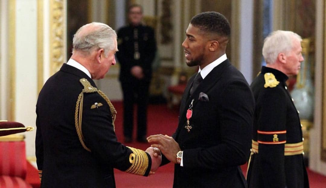 Anthony Joshua is 'fit and healthy' 16 days after meeting Prince Charles